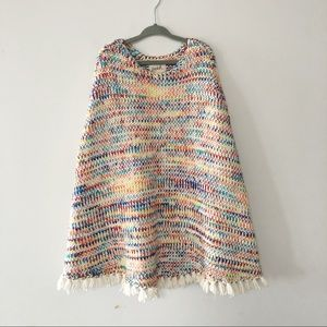 🌸3/$30 Peek girls rainbow fringe poncho